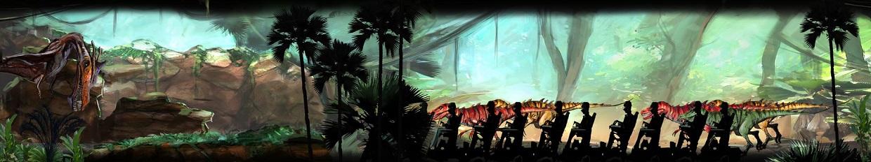 IMG Velociraptor Roller Coaster Concept Art